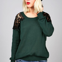 Shoulder Shadow Sweater | Trendy Knits at Pink Ice