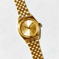 Nixon Small Time Teller Gold Watch - Urban Outfitters