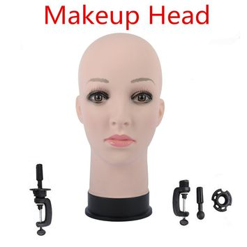 "20.5"" Female Rubber Training Mannequin Head For Wig Hat Display Professional Cosmetology Bald Mannequin Head for Wig Making,Hair"