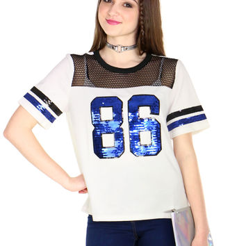HIGH SHINE SEQUIN JERSEY