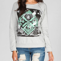 Lira Saint Womens Sweatshirt Heather Grey  In Sizes