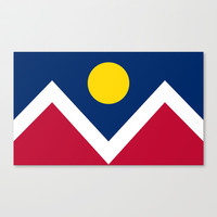 Denver (Colorado) city flag - Authentic version Stretched Canvas by LonestarDesigns2020 - Flags Designs +