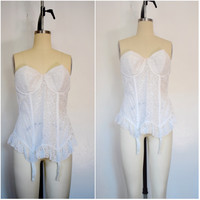 Vintage 1950s White Lace Goddess Girdle