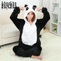 panda Pajamas For Women girls boys Hello Kitty Pink Pajama Adult Pajama One Piece Onesuit pijamas animal christmas unicorn