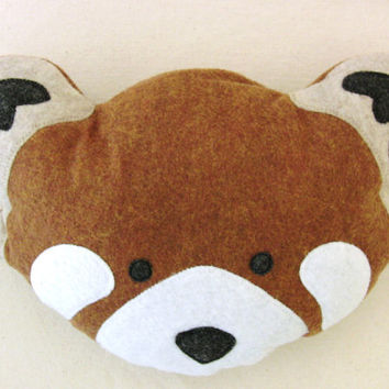 Plush Red Panda Head stuffed animal eco totem dolls - Fauna Friends Collection by Fawn and Sea - handmade with eco friendly felt & fill
