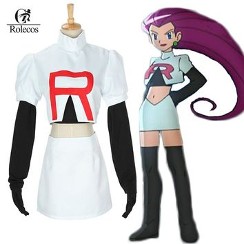 Pokemon Go Cosplay Anime Pocket Monster Pokemon Team Rocket Jesse Cosplay Costumes Pokemon Cosplay Suit