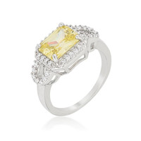 Radiant Cut Halo Ring, size : 05