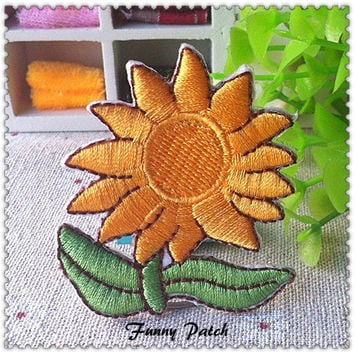 Sunflower Iron on Applique 157-H