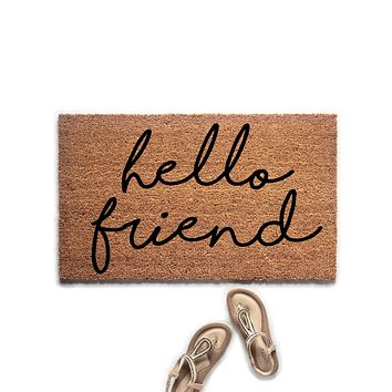 Hello Friend Doormat