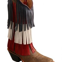 Twisted X Ruff Stock VFW Fringe Cowgirl Boots - Square Toe - Sheplers