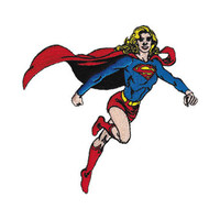 Supergirl Flying Iron-On Patch
