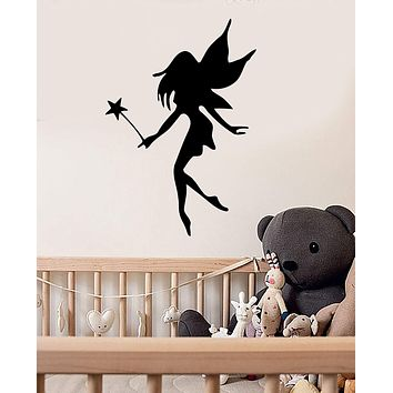 Wall Stickers Vinyl Decal Fairy Nursery Girl Room Magic Fantasy Wand Unique Gift (ig090)