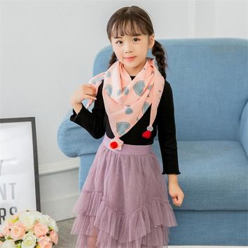 Children's Cotton Triangle Scarf Boys and Girls