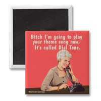 Theme song, dial tone refrigerator magnet from Zazzle.com