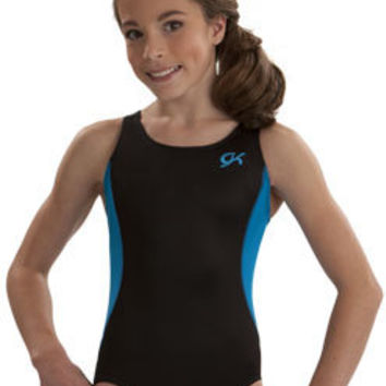 Racer Back Turquoise Tech Mesh Leotard from GK Elite