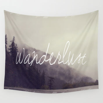 Wanderlust Wall Tapestry by Christine Hall