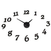 Amazon.com: Creative Digital DIY Adhesive Wall Clock Black: Home & Kitchen