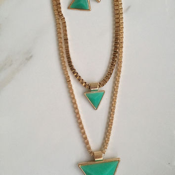 Triangle Double-Layered Necklace