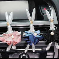 3D Cute Rabbit Charm Car vent clip, car air freshener Holder, Car Accessory