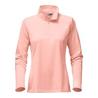 Women's Tech Glacier 1/4 Zip in Tropical Peach by The North Face