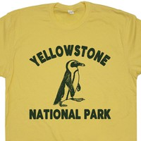 Cool Yellowstone Shirt Yellowstone Park T Shirt Penguin Shirt Funny Animal Tee