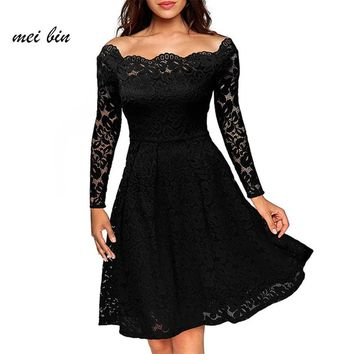 Women Black Sexy Off Shoulder Embroidery dress 2017 Women Bohemian Print Mini Dress elegant dress women for wedding party