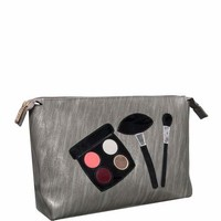 Lolo Bags Betty Cosmetics Bag, Brushed Silver Makeup