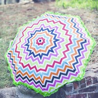Rainy Day Chevron Umbrella