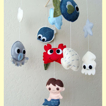 Hanging Baby Mobile Under the sea theme You can pick by hingmade