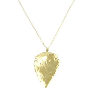 Gold Arrowhead Necklace