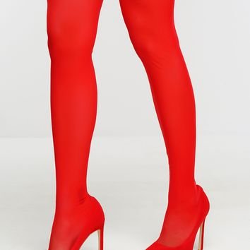 Romi Mesh Boots - Red