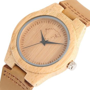 Wood Watches Women Luxury Japanese Quarzt-watch Fashion Game of Thrones Style Natural Bamboo Woman's Size Hours Female Clock