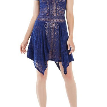 'Aileen' Lace Fit & Flare Dress