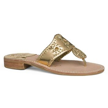 Hamptons Navajo Sandal in Gold by Jack Rogers