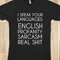 I SPEAK FOUR LANGUAGES - glamfoxx.com
