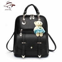 Fashion Casual PU Leather Women Backpack Famous Brand School Backpacks Mochila Women Backpack Girls School Bags For Teenagers