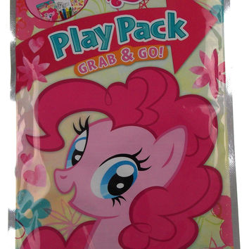 Lot 3 My Little Pony Play Packs Grab & Go Coloring Book Crayons Stickers Favors