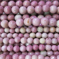 light pink rhodonite  beads - faceted round rhodonite beads - natural pink gemstone beads - faceted stone loose beads  -15inch