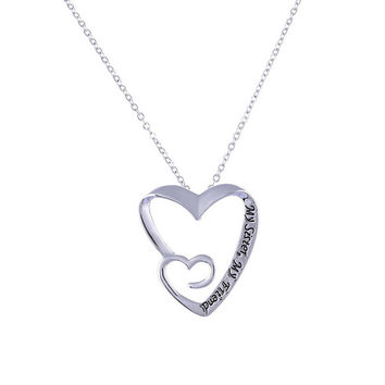 Double Heart Sisters Necklace