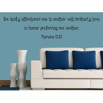Romans 12:10 Bible Verse Wall Decal, Bible wall art