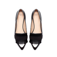 POINTY MOCCASIN WITH FOLD - OVER FLAP - Shoes - TRF | ZARA United Kingdom