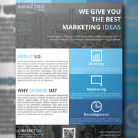 Corporate Flyer PSD Template, Business Flyer Template, PSD Template, Instant Download