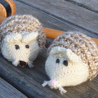 Cat Toys Knitted Hedgehogs Set of Two by GreenbriarCreations