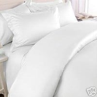 Anili Mili's Triple Stitch Embroidery Affordable 3 PC Bed Sheet Set - Twin Size, White