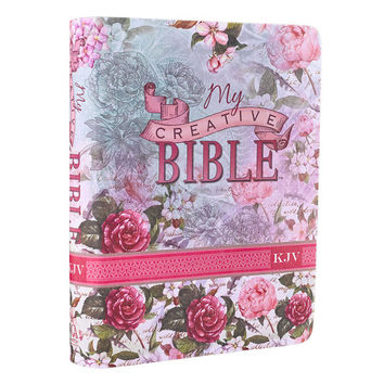 Coloring Bible for Faith Journaling/My Creative Bible/ Bible Journaling Gifts for Mom Sister Niece Aunt or Friend - King James Journal Bible