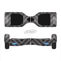 The Gray & Black Sketch Chevron Full-Body Skin Set for the Smart Drifting SuperCharged iiRov HoverBoard