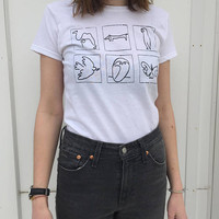 Picasso line drawings shirt