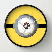 Minion Wall Clock by Bearded Manatee