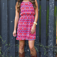 Lovely Day Dress: Red/Multi | Hope's