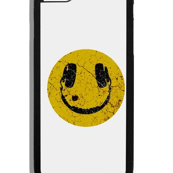 EDM Smiley Face Black Dauphin iPhone 6 Plus Cover by TooLoud